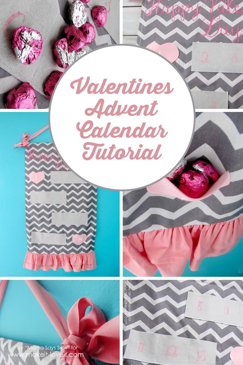 Valentine's Day Advent Calendar Tutorial