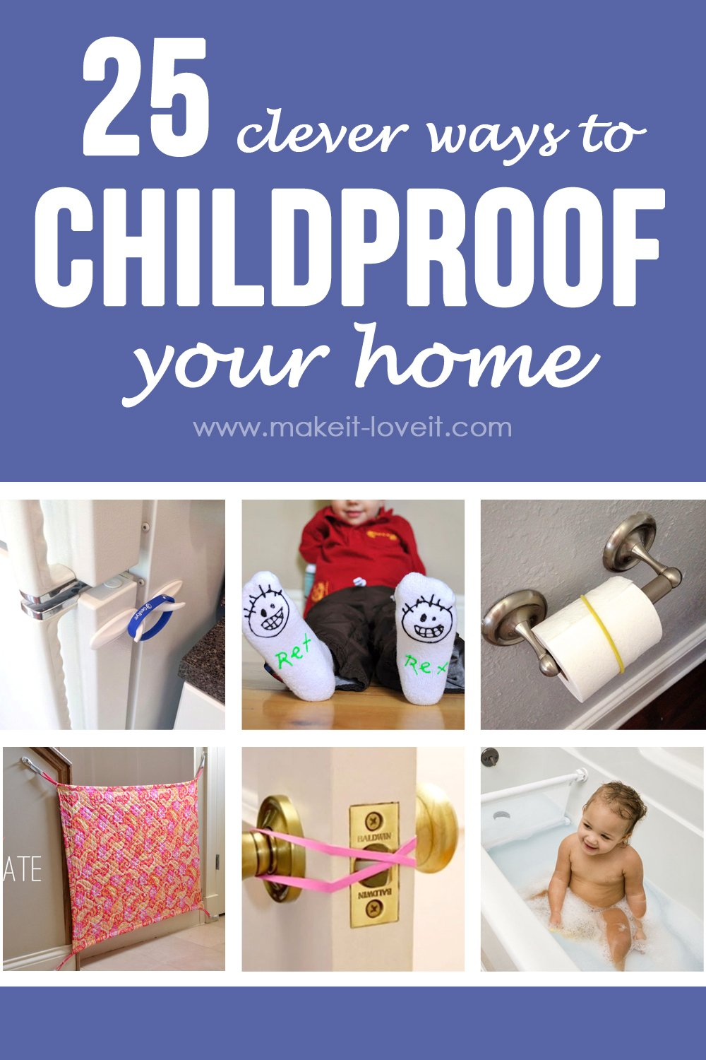 25 Clever Ways to Childproof Your Home | via Make It and Love It