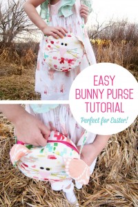 Easy Bunny Purse Tutorial - perfect for Easter