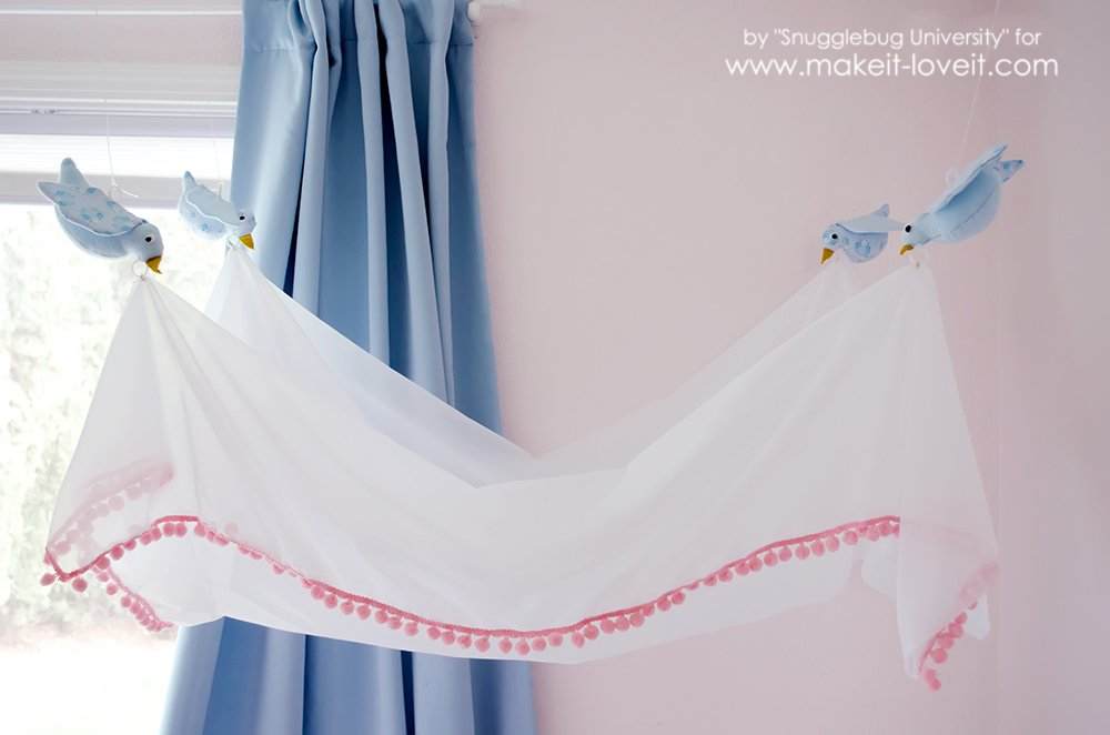easy diy bird canopy for above a bed via make it and love it