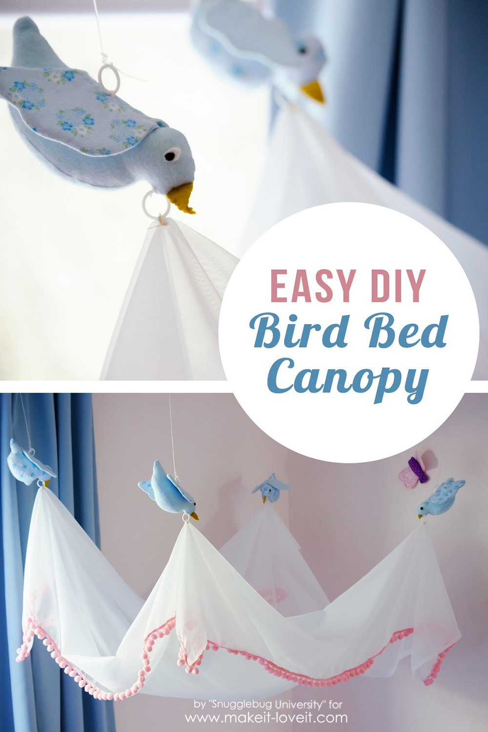 Easy DIY Bird Canopy….for above a BED!