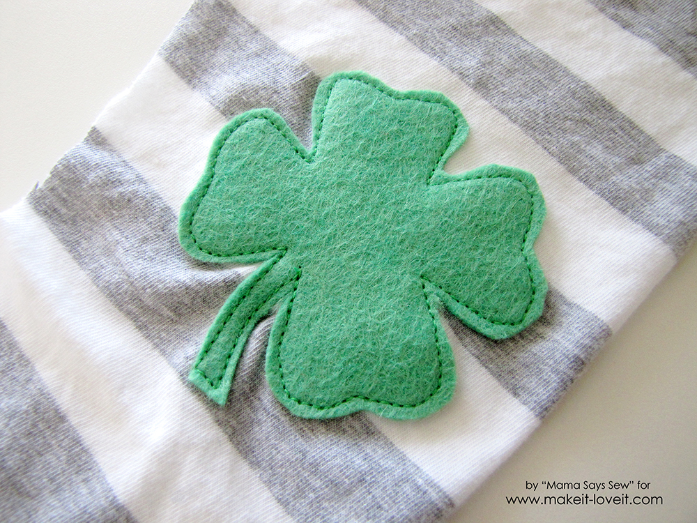 Super Easy Shamrock Leggings Tutorial (7)