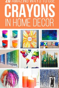 20 Amazing Ways to use CRAYONS in HOME DECOR | via Make It and Love It