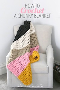 How to Crochet a Chunky Blanket....the affordable way! | via Make It and Love It