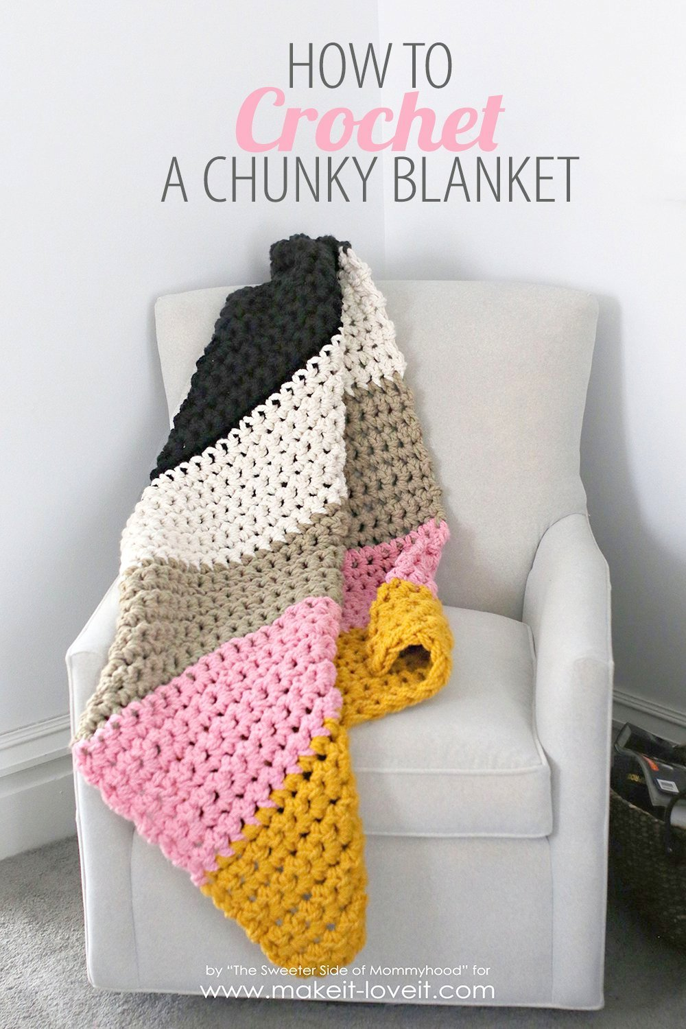 How to Crochet a Chunky Blanket (…an affordable beginner project!)