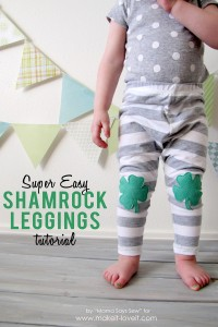 super easy shamrock legging tutorial