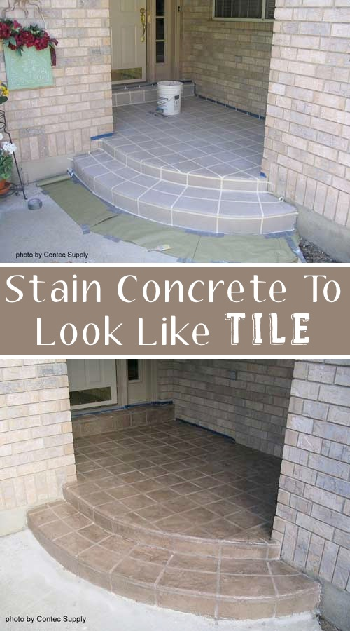 10.-Use-concrete-stain-to-make-a-faux-tile-entry-17-Impressive-Curb-Appeal-Ideas-cheap-and-easy