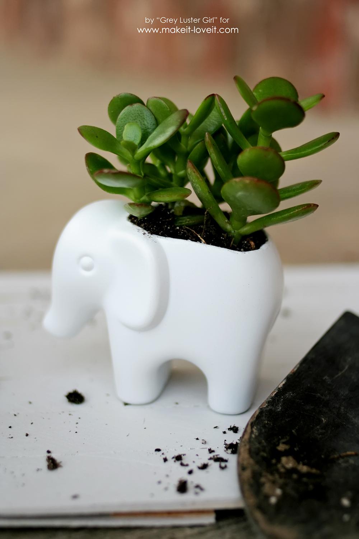 DIY Toy Elephant Succulent Planter (14)