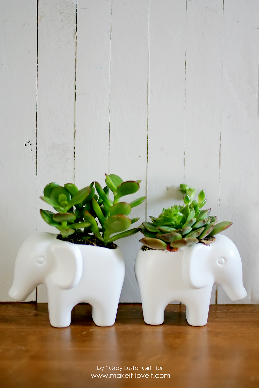 DIY Toy Elephant Succulent Planter (17)