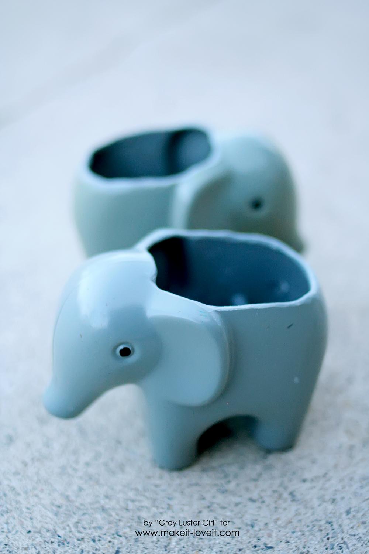 DIY Toy Elephant Succulent Planter (7)