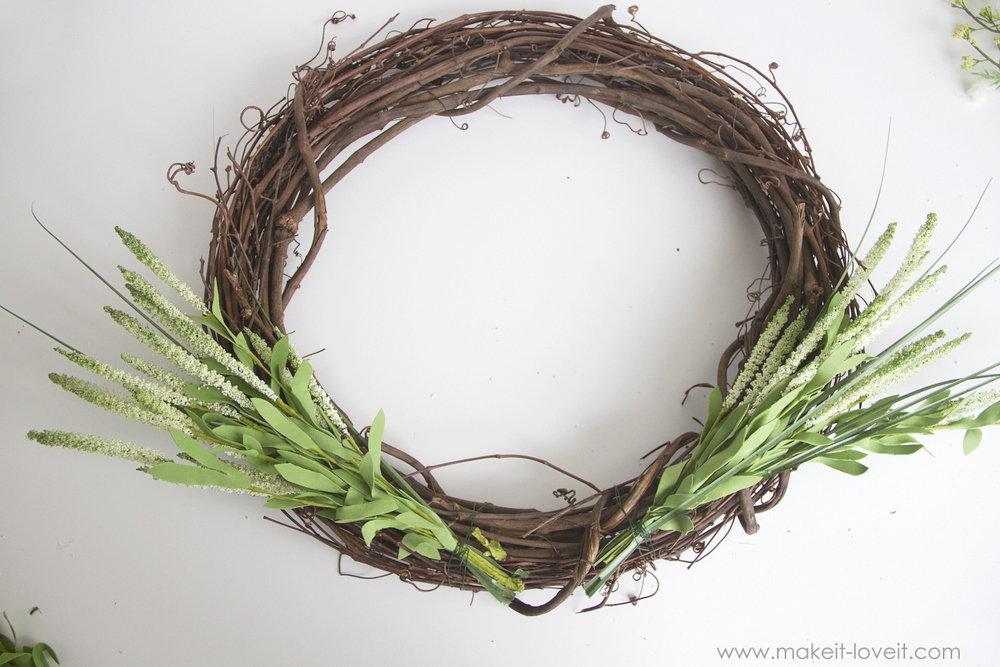 Make a 15-minute Peony Spring Wreath | via Make It and Love It