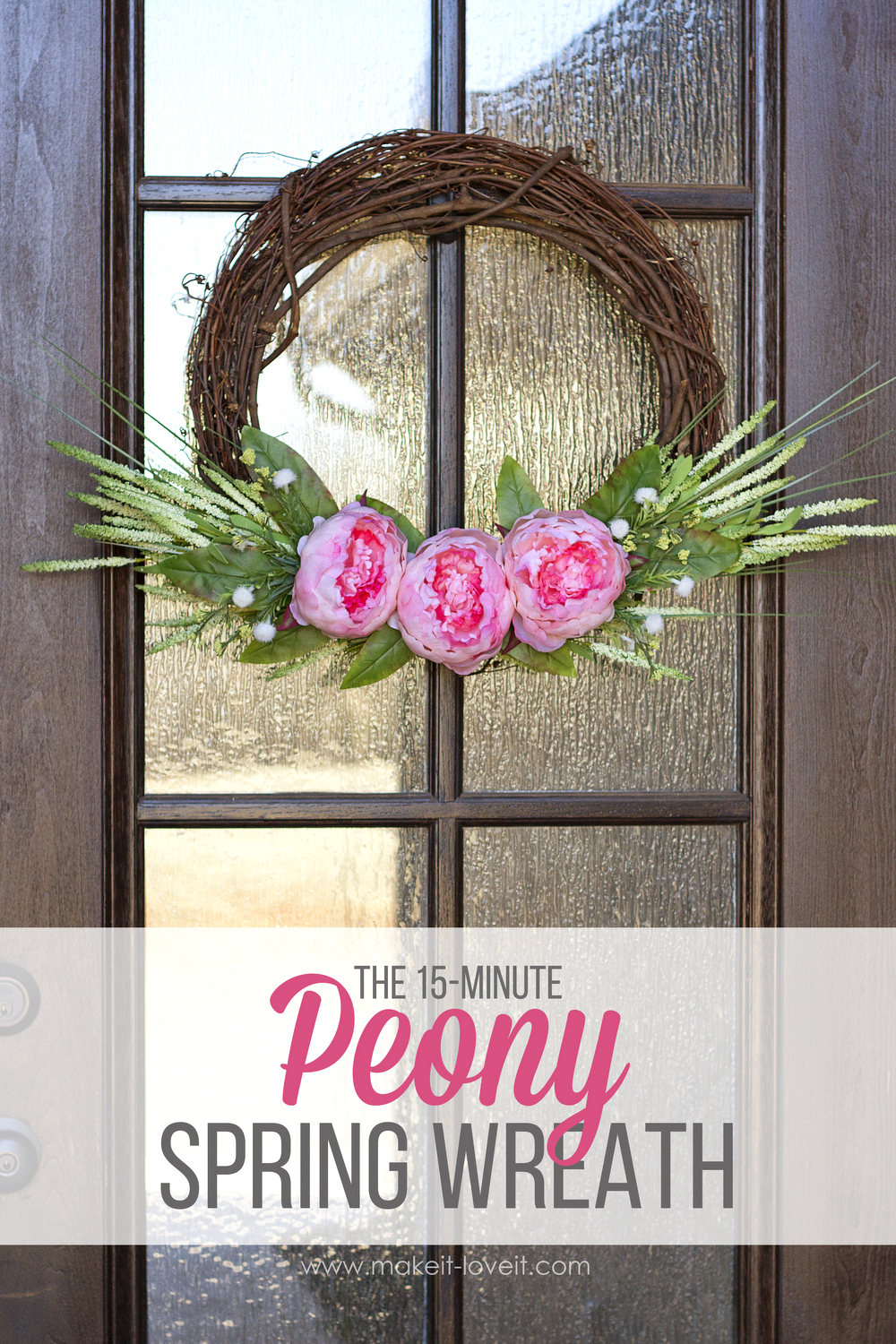 Make a {15-minute} Peony Spring Wreath | via Make It and Love It