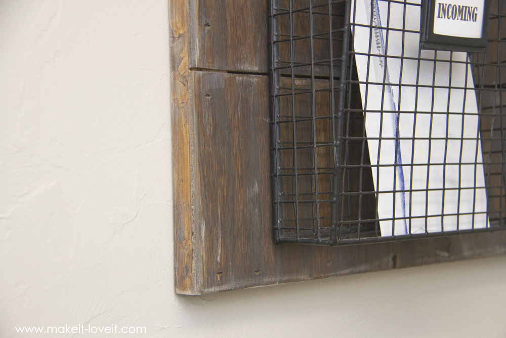 Wall Hanging Mail Organizer wall mounted mail organizerfrom scrap wood! | make it and love it