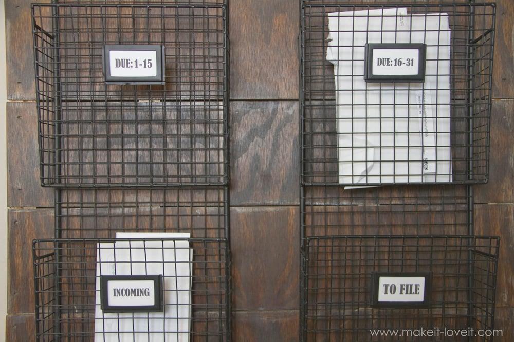 wall mounted mail organizerfrom scrap wood via make it and