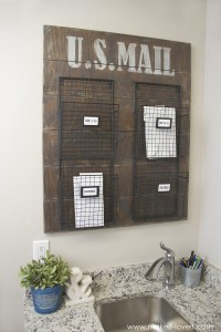 Wall Mounted Mail Organizer...from scrap wood! | via Make It and Love It