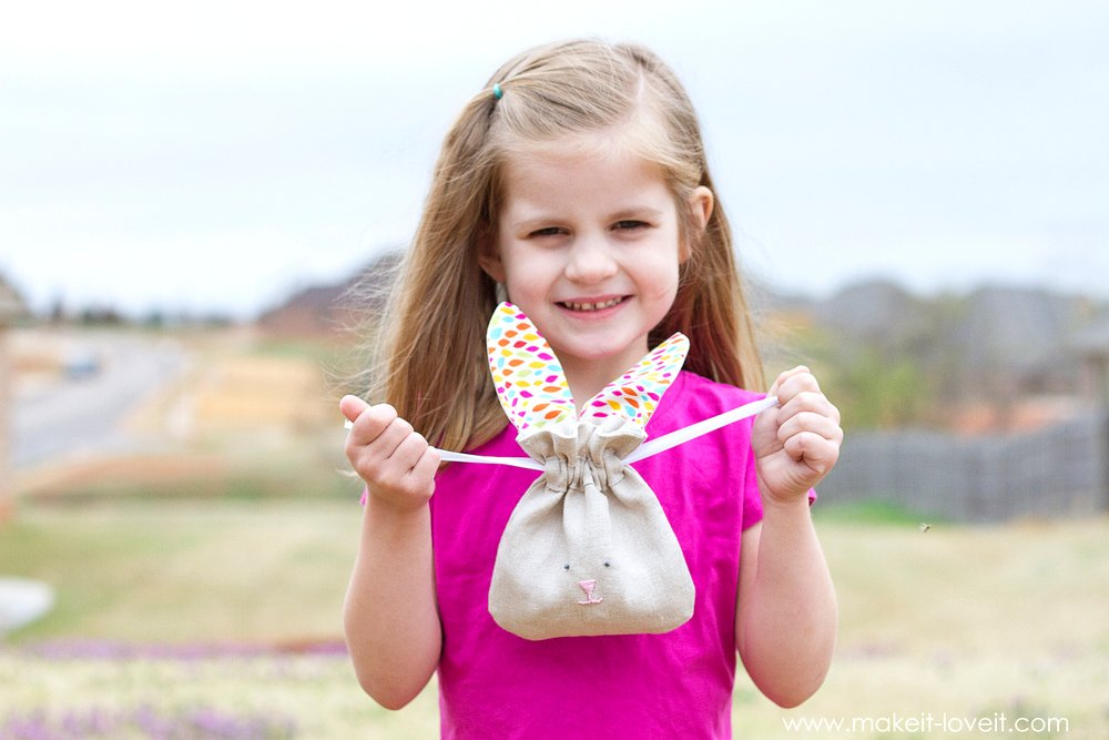 Drawstring Bunny Bags...fun for Easter, or ALL year long! | Make It and Love It