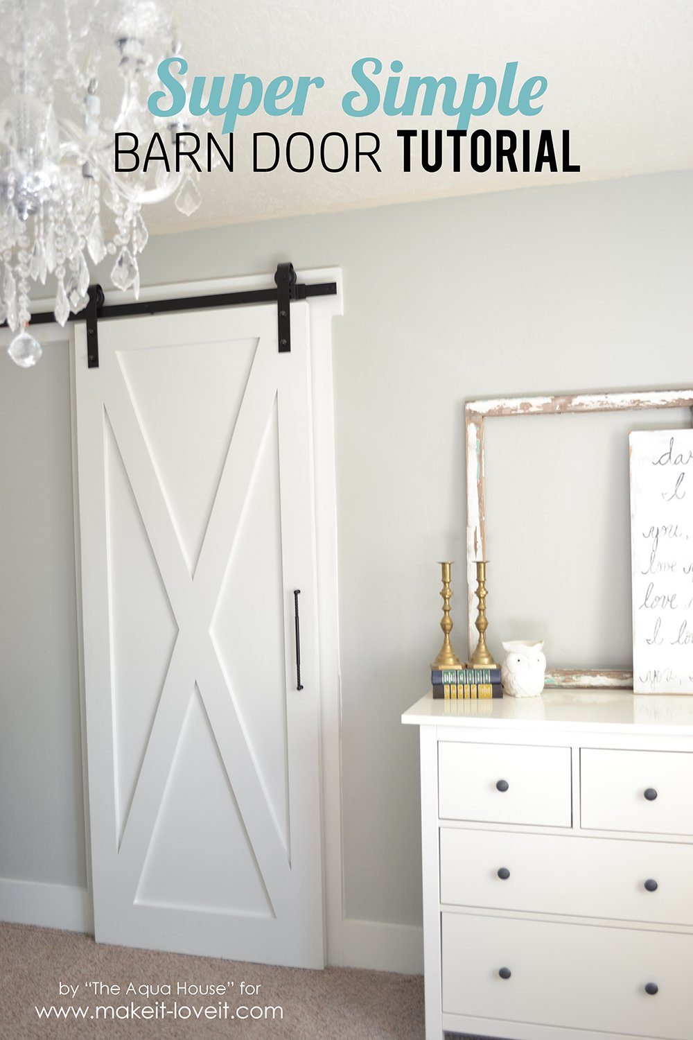 Super Simple Barn Door Tutorial