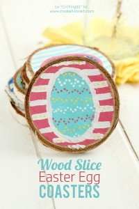 Wood Slice Easter Egg Coasters