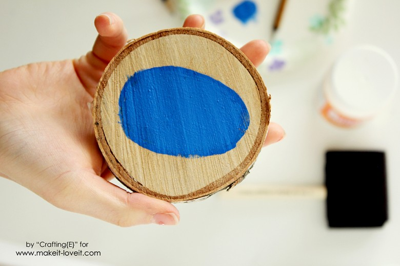 Wood Slice Easter Egg Coasters (3)