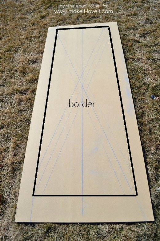 barn door chalk outline border