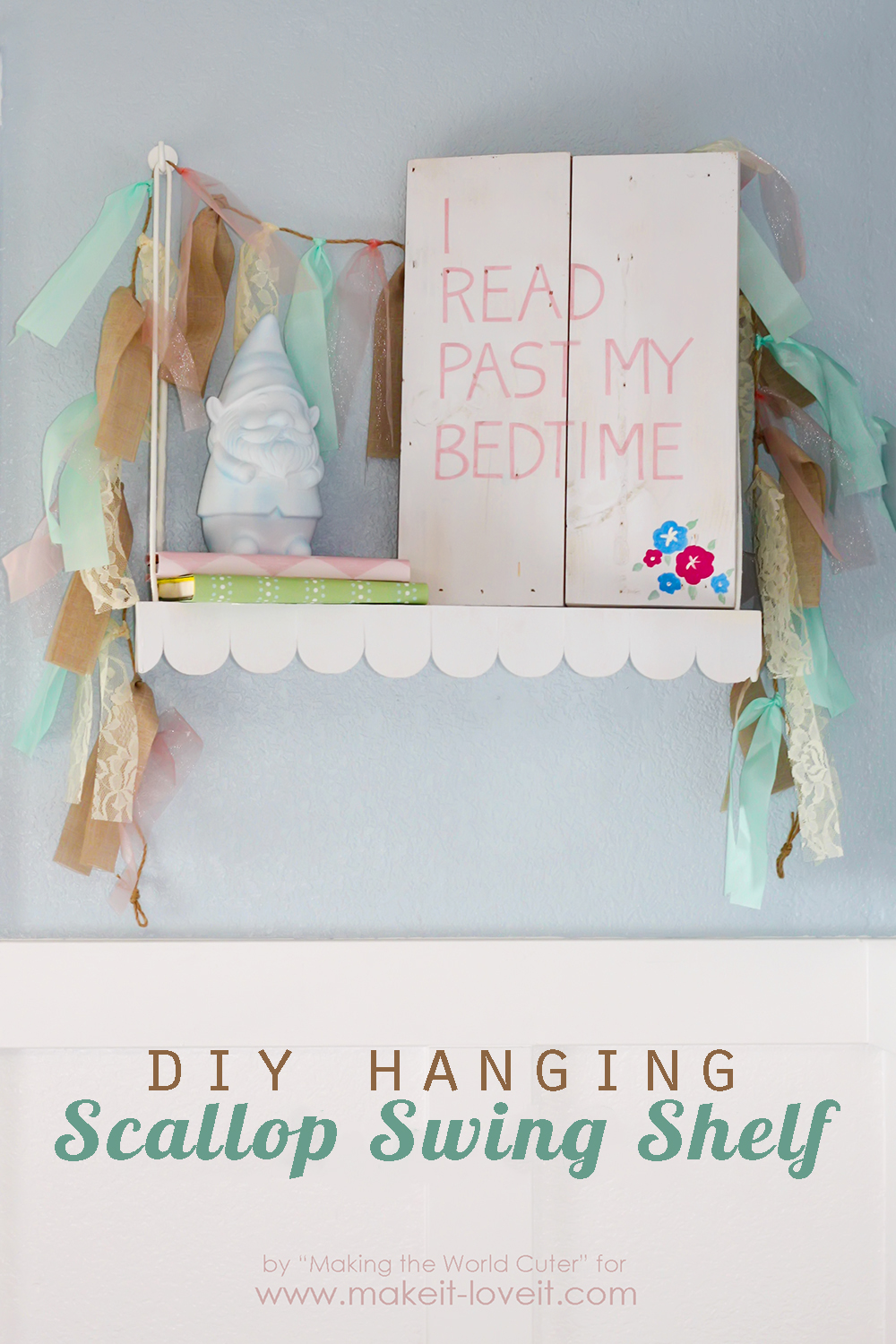 DIY Hanging Swing Shelf…with Scallop Edge
