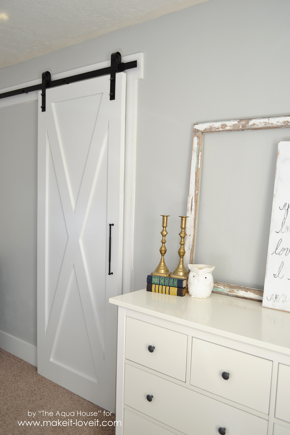 Super Simple Barn Door Tutorial | via Make It and Love It