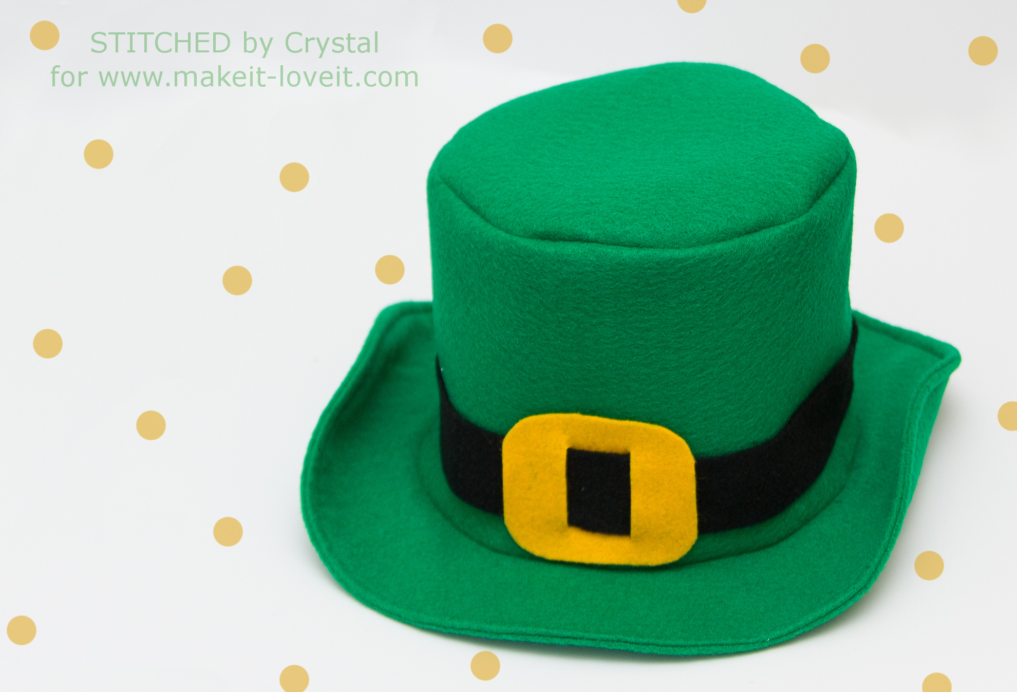 diy fabric top hat with free pattern make it and love it