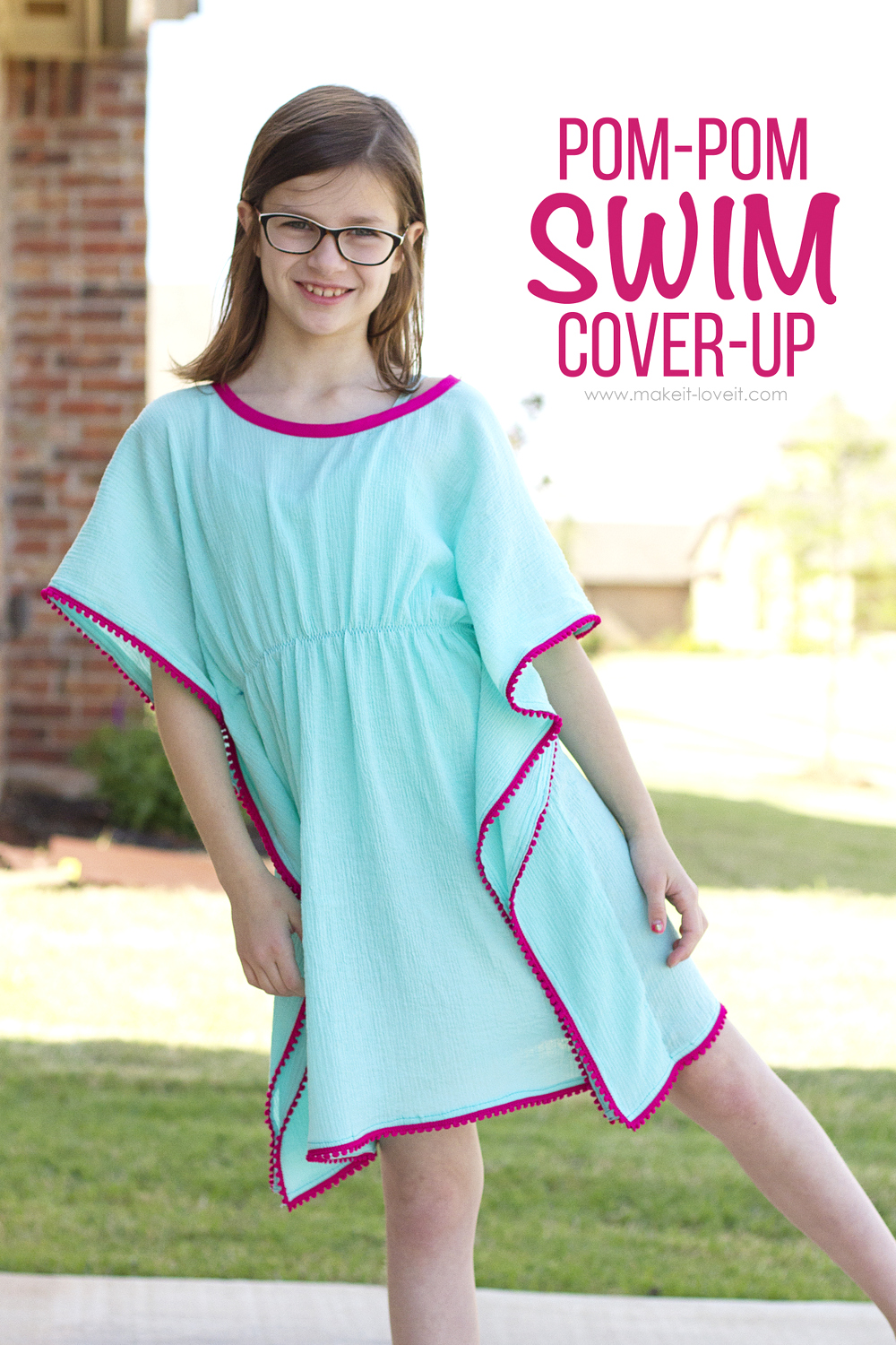 DIY Pom-Pom Swim Cover-Up