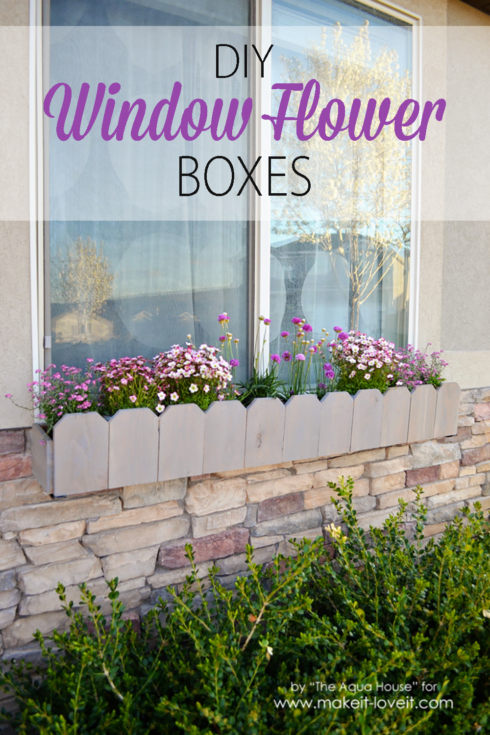 DIY Window Flower Boxes
