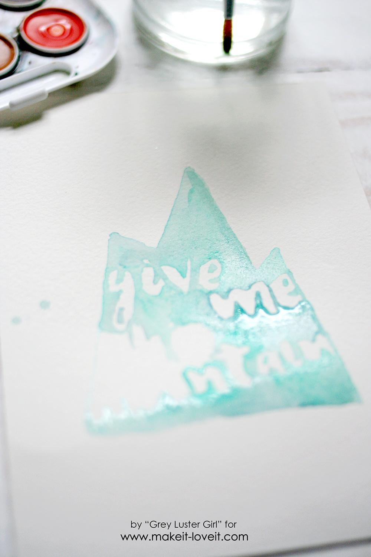 EASY watercolor typography (8)