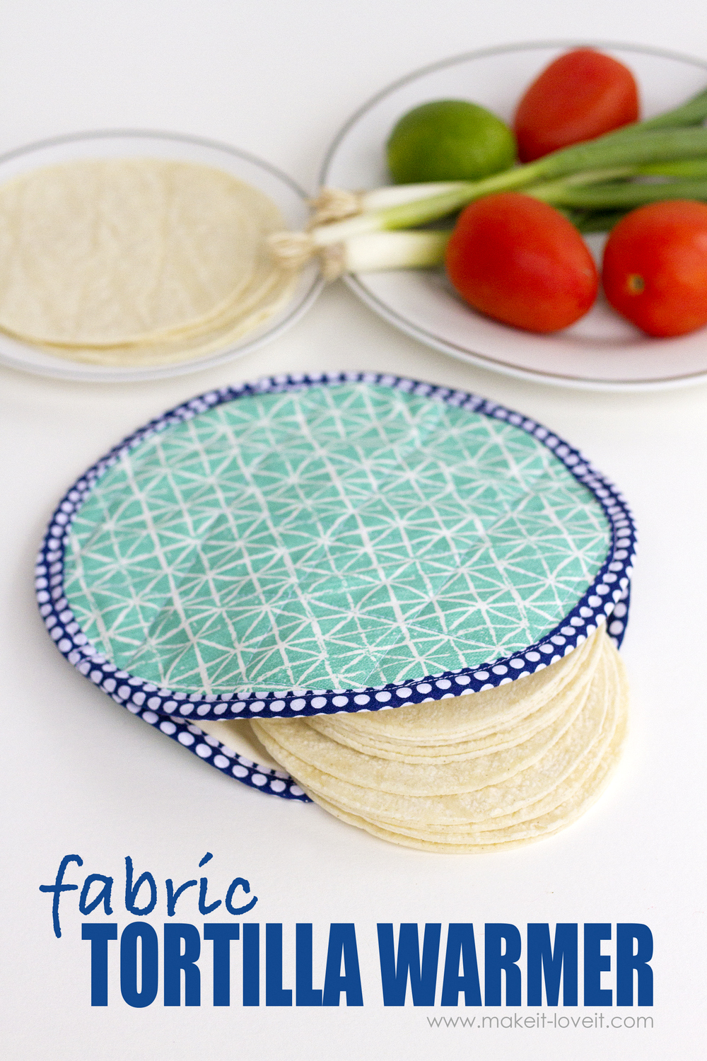 DIY Fabric Tortilla Warmer (…that's microwave safe!)