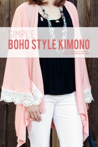 Simple boho style kimono