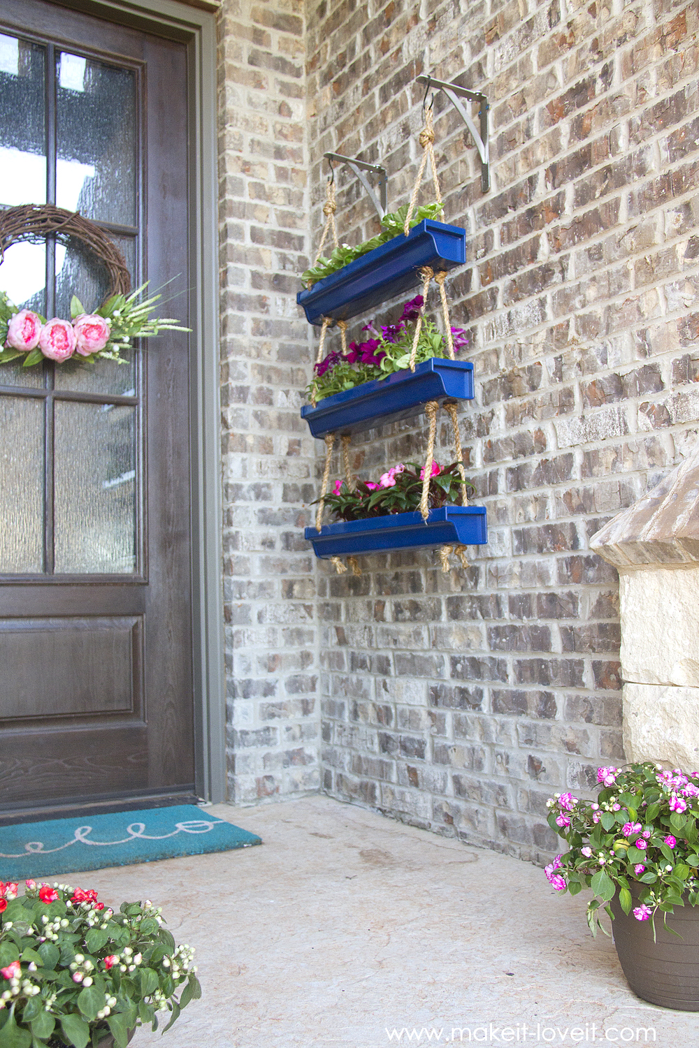 Diy Hanging Rain Gutter Planters Make It And Love It