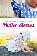 how to alter a pattern to add flutter sleeves