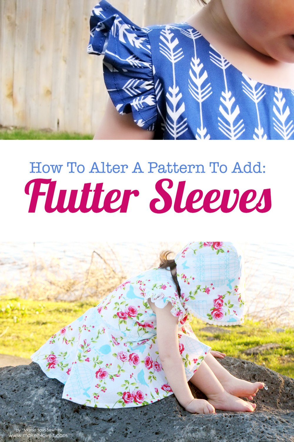 How To Add Flutter Sleeves to Clothing!