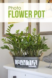 DIY Photo Flower Pot (...fun for Mother's Day!) | via Make It and Love It