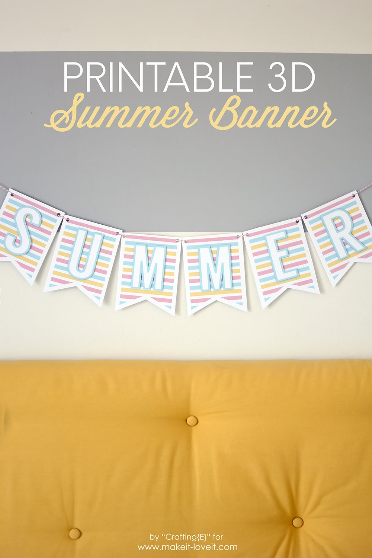 Free 3D PRINTABLE Summer Banner