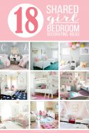 18 Shared Girl Bedroom Decorating Ideas | via Make It and Love It