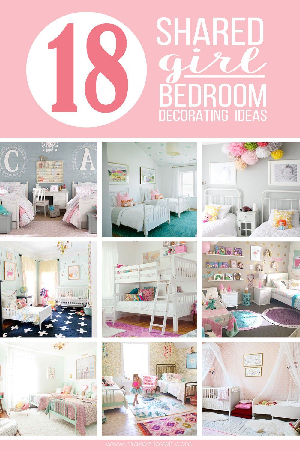 18 shared girl bedroom decorating ideas make it and love it - How to decorate your bedroom for girls ...