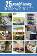 25 Money-Saving DIY Backyard Projects...to transform your space!! | www.makeit-loveit.com