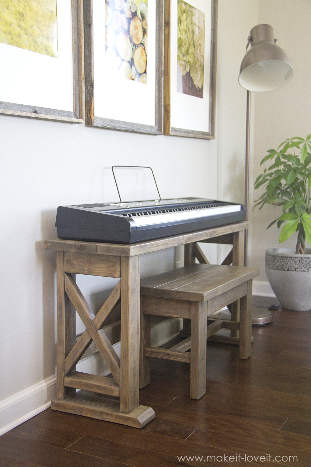 Piano Furniture Diy Digital Piano Stand Plus Bench A 25 Project Make It
