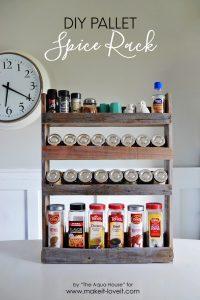 DIY Pallet spice rack (1)