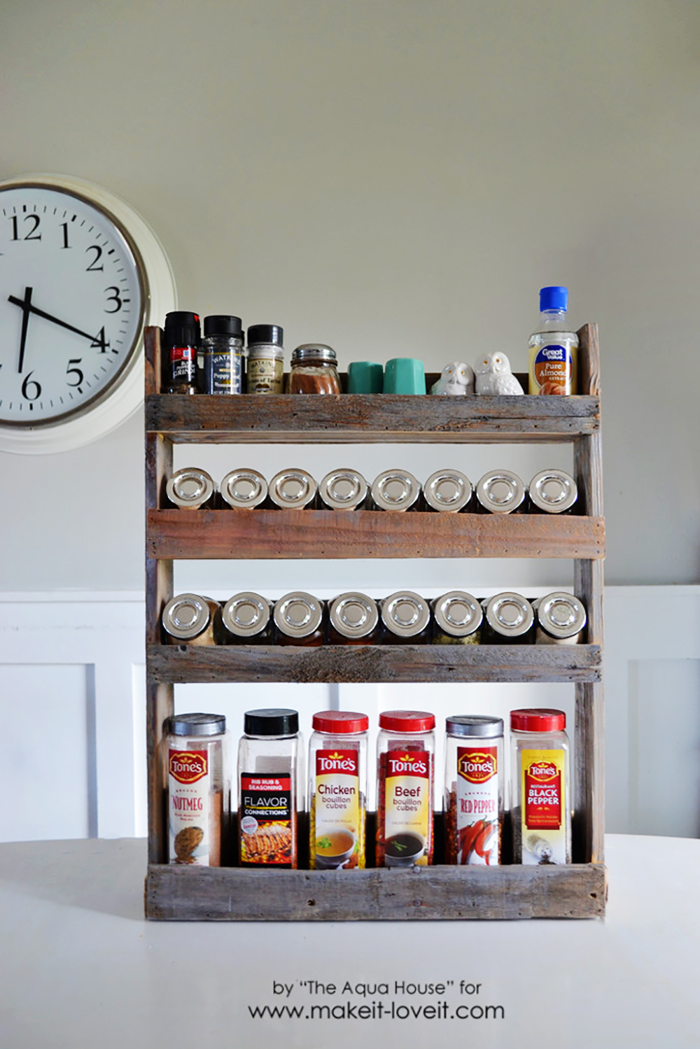 DIY Pallet Spice Rack Make It And Love