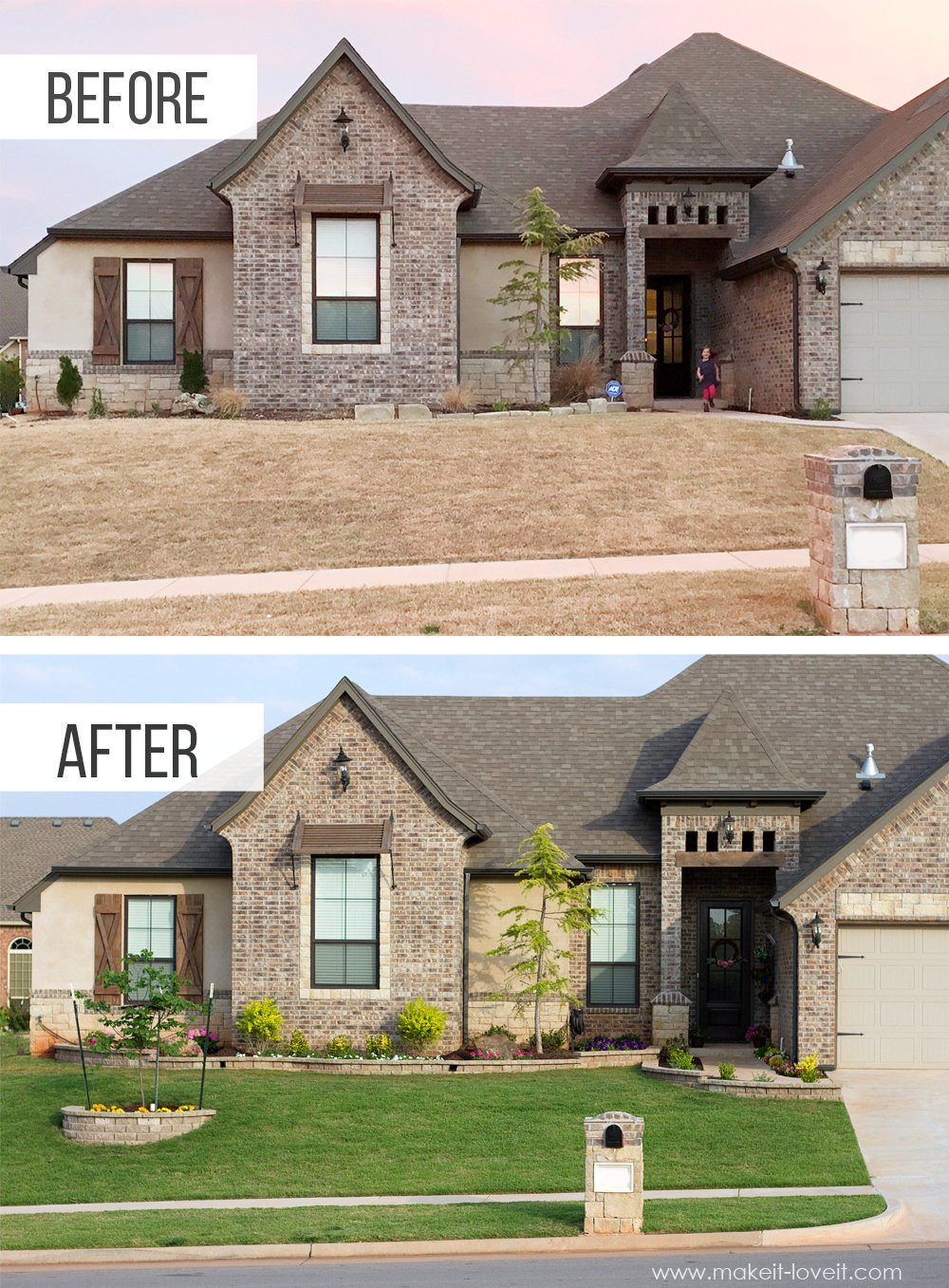 How To Landscape & Hardscape a Front Yard (...from our experience!!) | www.makeit-loveit.com
