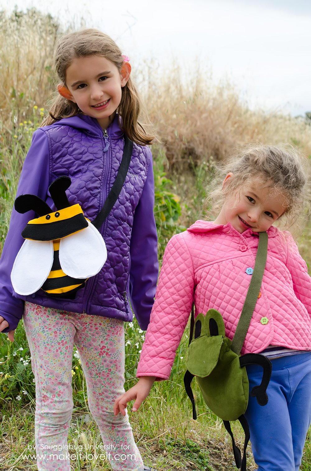 How to make a Kid's BUMBLEBEE Cross-Body Bag | via www.makeit-loveit.com