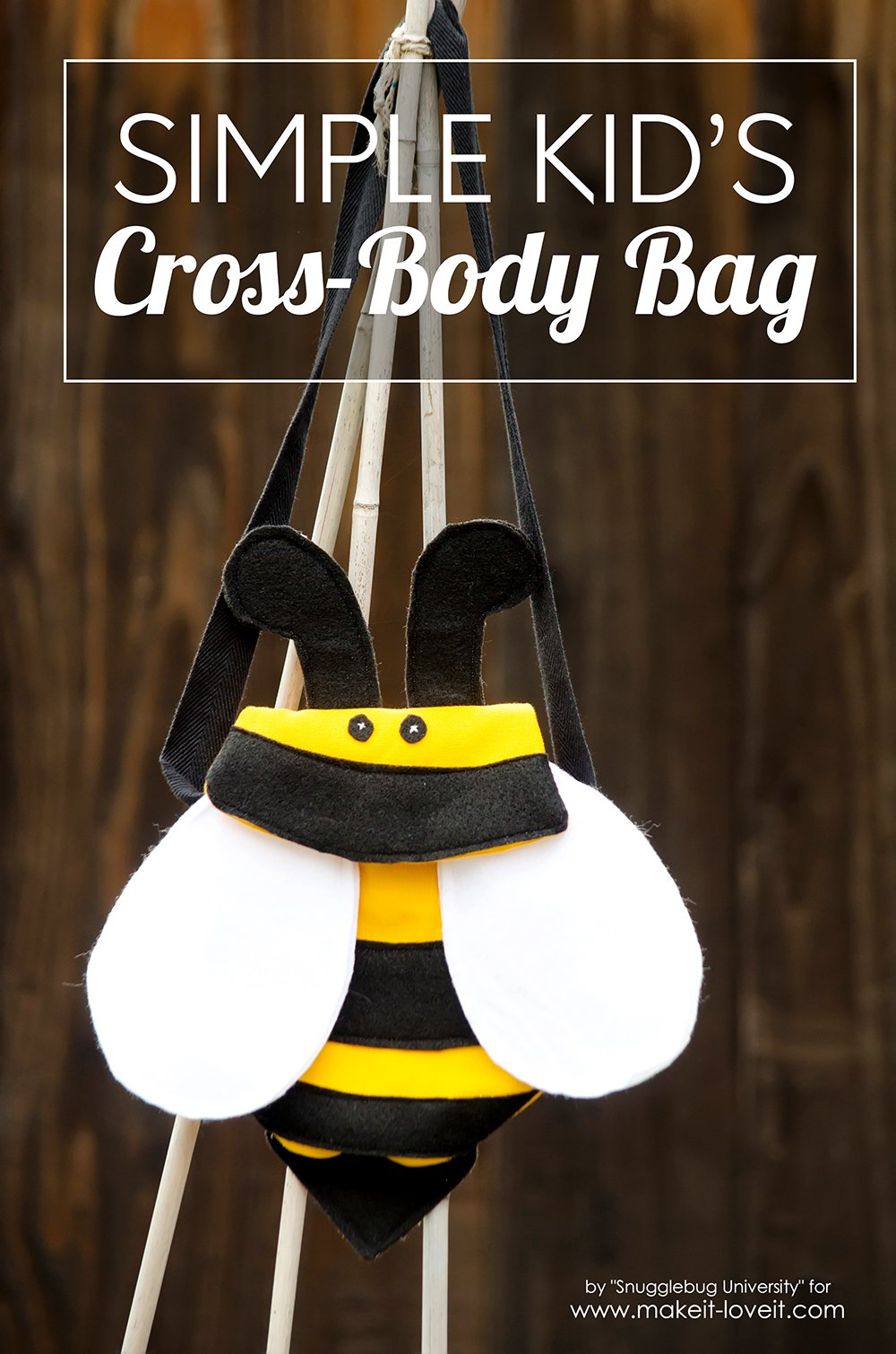 How to make a Kid's BUMBLEBEE Cross-Body Bag