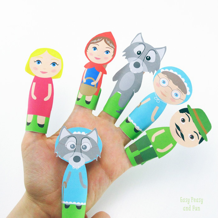 Sweet-Little-Red-Ridding-Hood-Finger-Puppets