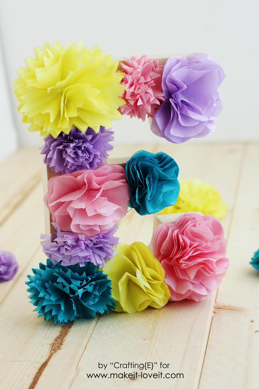 Tissue Paper Flower Letters