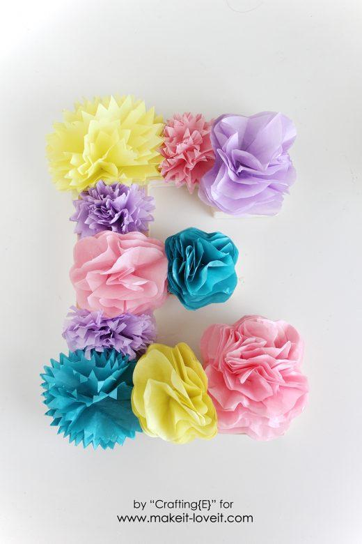 tissue paper flower letters (9)