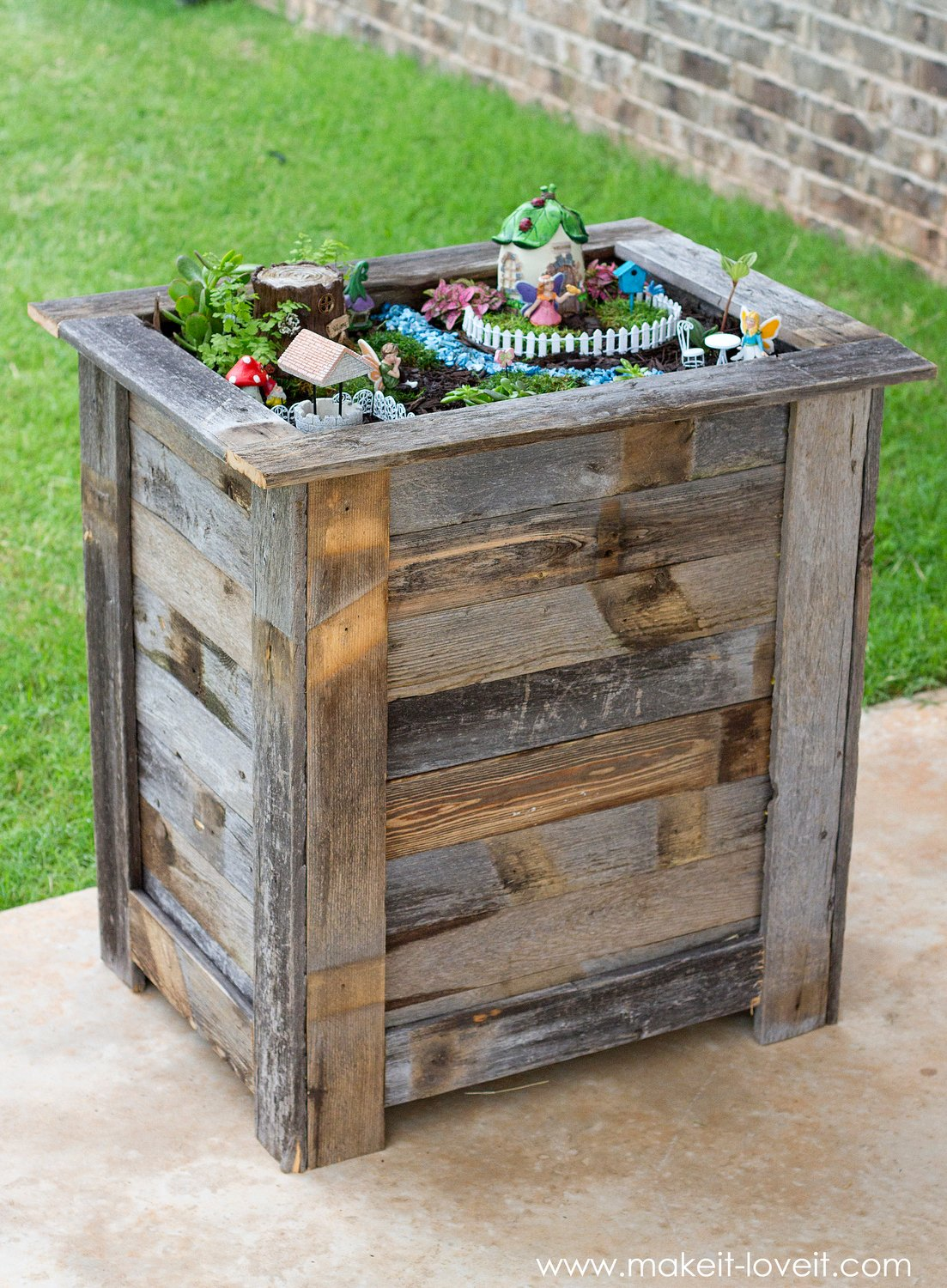 Reclaimed wood planter images for Salvaged wood